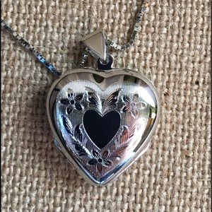 Jewelry - NWT Sterling Silver Heart Locket Pendant Necklace